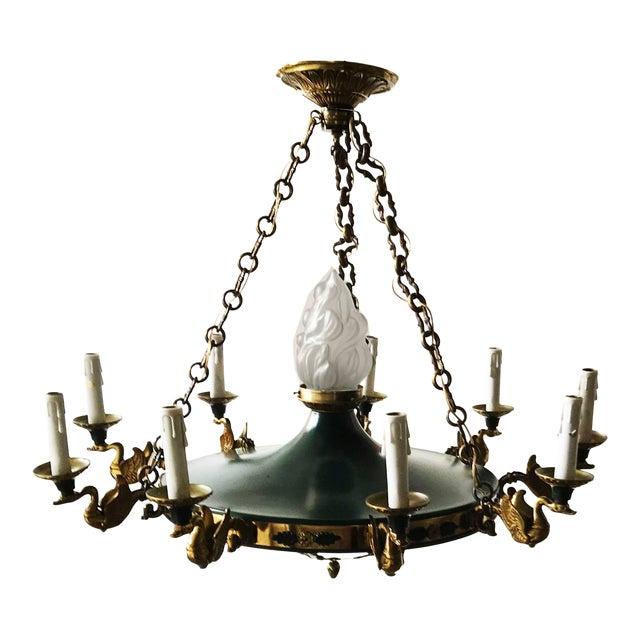 Vintage Huge Eleven-Light 1st French Empire Chandelier For Sale