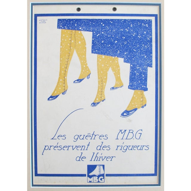 Date: c. 1920 Size: 8 x 10.25 inches, matted to 12 x 15.2 About The Poster: Fabulous and very Art Deco, this charming and...