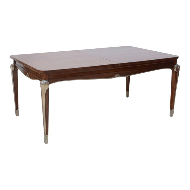 Late Art Deco Palisander Extension Dining Table by Jean Pascaud For Sale