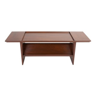 Coffee Table With Display Shelf by Edward Wormley for Dunbar For Sale