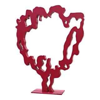 """""""Bloom'' Enamel on Corten Steel Sculpture For Sale"""