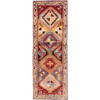 Colorful Semi Antique Persian Runner Rug - 2′4″ × 6′9″