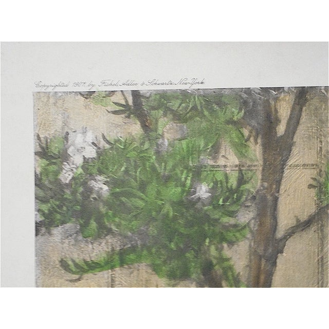 """Large Antique Lithograph """"Gentle Pastime"""" For Sale - Image 5 of 7"""