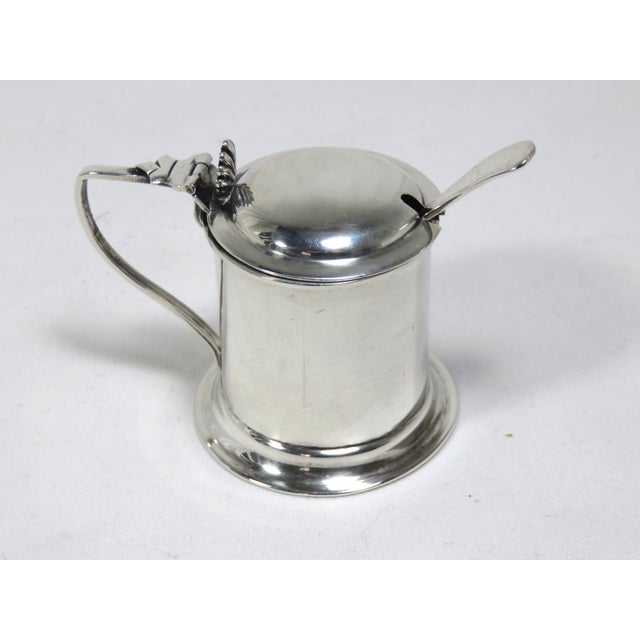 Silver 1900s Victorian Sterling Silver Mustard Pot For Sale - Image 8 of 8