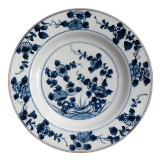 19th-Century Delft Chinoiserie Faience Plate For Sale
