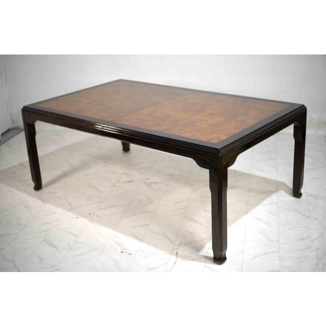 1970s 1970s Chinoiserie Burlwood Dining Table by Century Furniture For Sale - Image 5 of 12