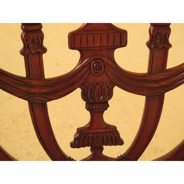 Mahogany Maitland Smith Carved Mahogany Dining Room Chairs - Set of 4 For Sale - Image 7 of 13