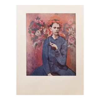 """1950s Picasso """"Boy With a Pipe"""" Period Vintage Lithograph For Sale"""