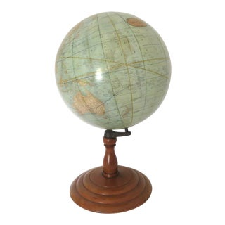 Antique Rand McNally Twelve Inch Terrestrial Globe - Atlas For Sale