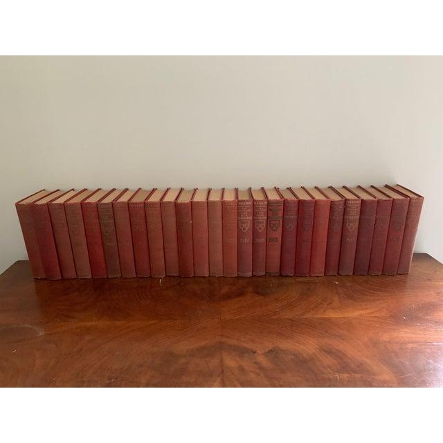 Red Vintage 1930s Encyclopedia Books - Set of 26 For Sale - Image 8 of 8