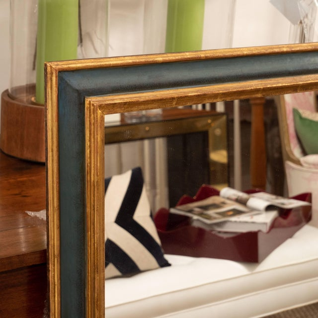 Italian Painted and Parcel-Gilt Mirror For Sale - Image 4 of 6