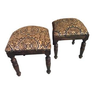 Stools W/ Turkish Carpets - A Pair