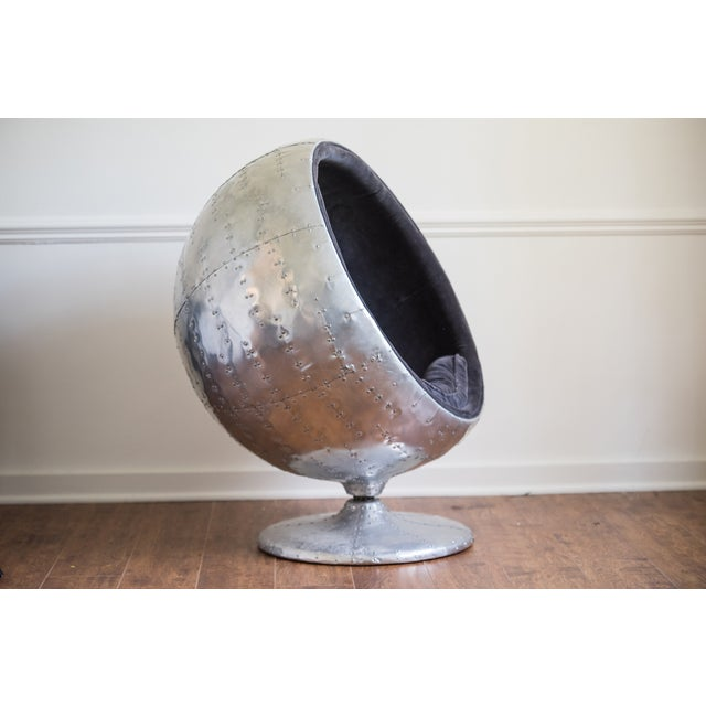 Selling an amazing RH orbit spitfire chair inspired by designer Eero Aarnio's famous ball chair. The chair is from RH's...
