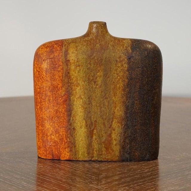 "Marcello Fantoni wide shoulder vase with lava glaze. Burnt Orange, Raw Umber & Chocolate Price: 1200.00 Dimensions: H 10""..."