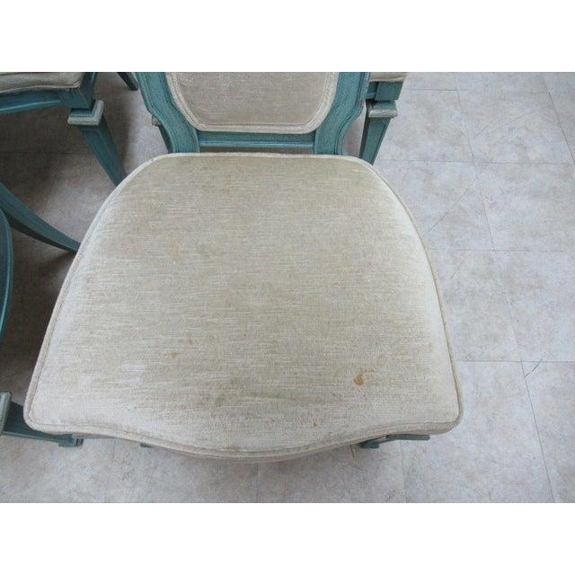 Vintage Baker Furniture French Regency Dining Side Chairs - Set of 6 For Sale - Image 4 of 11