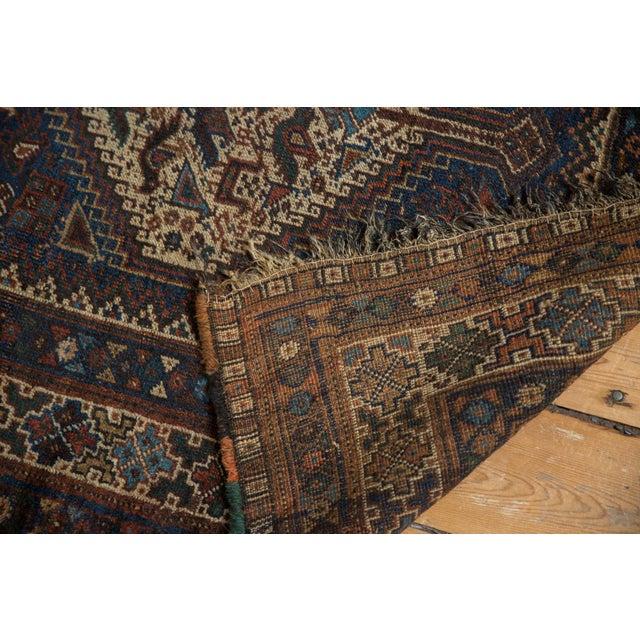 "Cotton Vintage Qashqai Rug - 3'8"" x 5'6"" For Sale - Image 7 of 13"