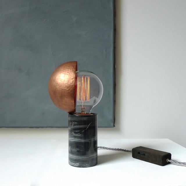 Stone Marble Table Lamps, Sander Bottinga For Sale - Image 7 of 9