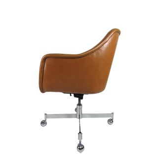 Ward Bennet Leather Office Chair Brickel Associates For Sale