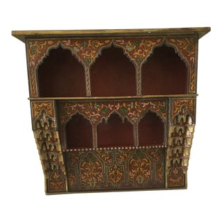 Vintage Anglo-Indian Wall Mounted Shelf For Sale