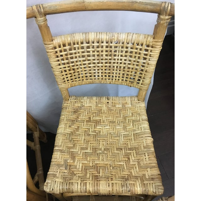 Vintage Bamboo and Rattan Chairs - Set of 6 - Image 9 of 10