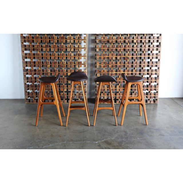 Erik Buch Danish Modern Barstools - Set of 4 For Sale In Los Angeles - Image 6 of 13