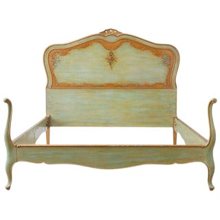 Early 20th Century French Louis XV Style Lacquered Bed For Sale