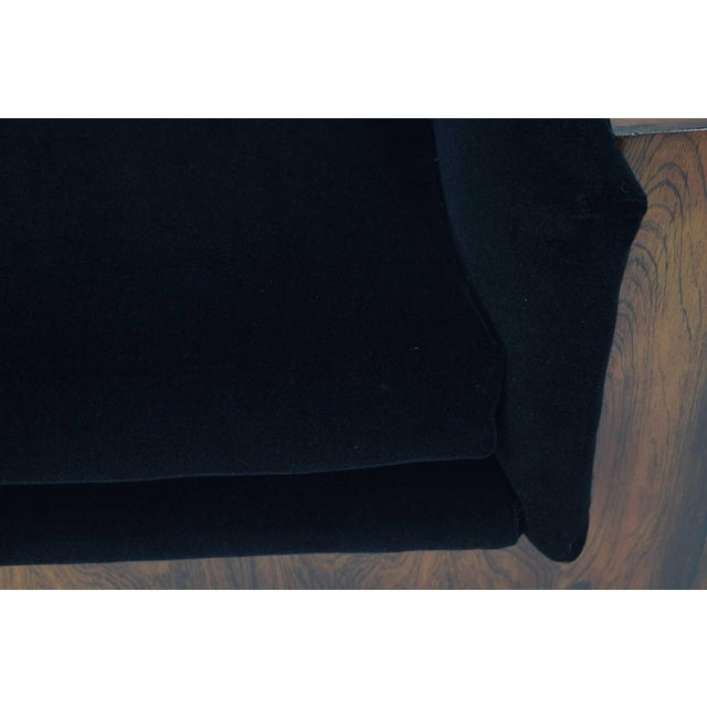 Milo Baughman for Thayer Coggin Rosewood Case Sofa in Maharam Mohair For Sale - Image 10 of 13