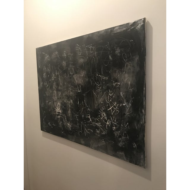 """Sarah Trundle Contemporary Abstract Painting by Sarah Trundle, """"Don't Fence Me In"""" For Sale - Image 4 of 6"""