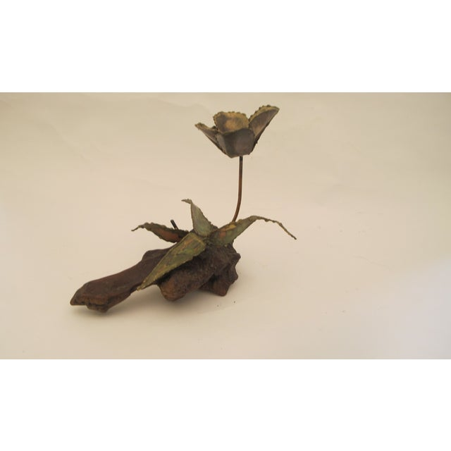 1960s Curtis Jere Style Metal Flower Sculpture - Image 2 of 5