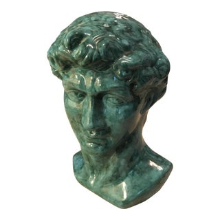 Alexander the Great Hollow Ceramic Bust