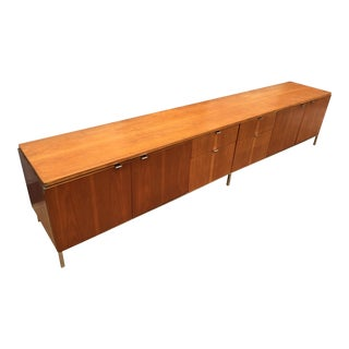 Very Large and Rare Walnut Stow Davis Credenza For Sale