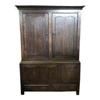 18th Century Oak Welsh Wardrobe Armoire Mud Room Cubby For Sale
