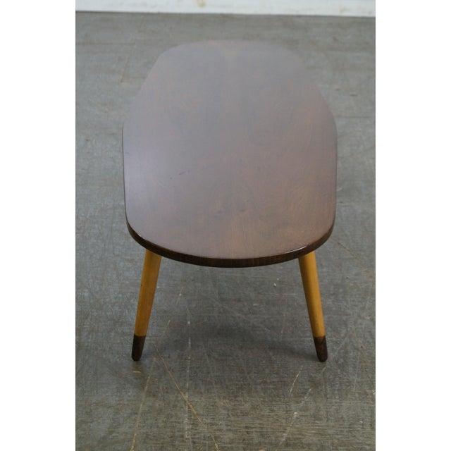 Mid Century Swedish Modern Oval Walnut Coffee Table - Image 3 of 10