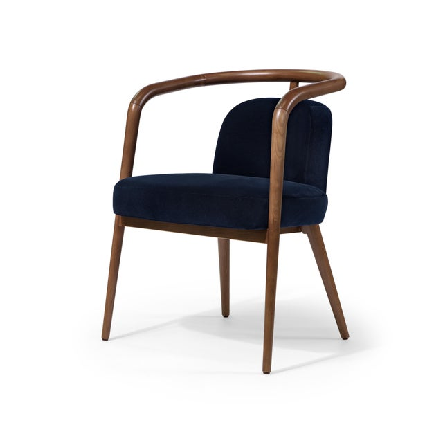 Not Yet Made - Made To Order Contemporary Mid Century Style Scandinavian Modern Walnut Chair For Sale - Image 5 of 6