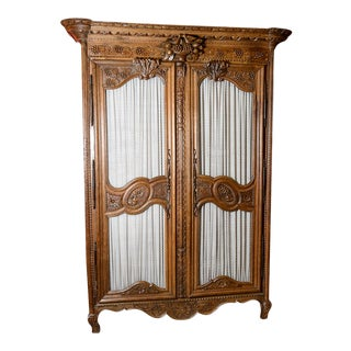 Mid 19th Century French Oak Marriage Armoire For Sale