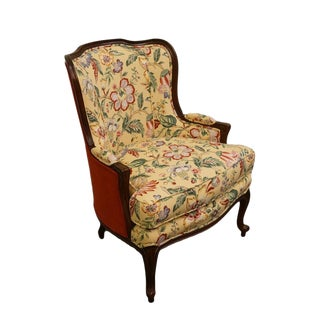 20th Century French Ethan Allen Wingback Accent Chair For Sale