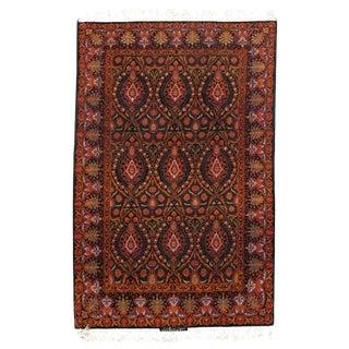 Persian Pasargad N Y Isfahan Korker Wool & Silk Highlighted Rug - 3′9″ × 5′8″ For Sale