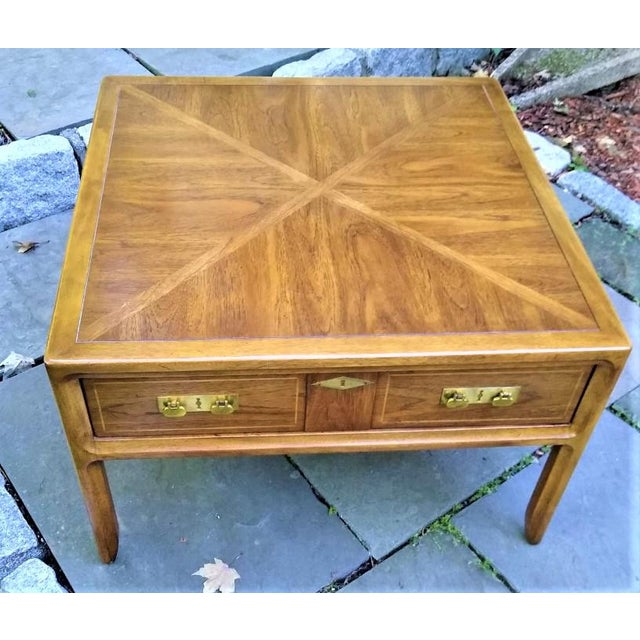 Brown Mid-Century Mastercraft End Table For Sale - Image 8 of 11