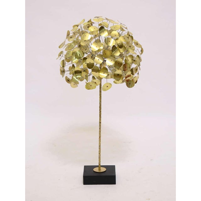 Curtis Jere Oversize Dandelion Sculpture In Brass By Jere For Sale - Image 4 of 9