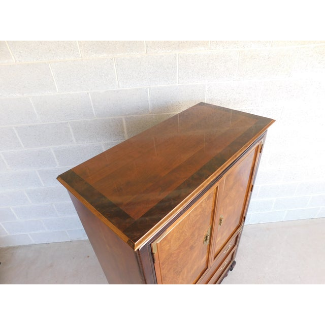 """Broyhill Premier """"Ming"""" Collection Armoire / Chest For Sale - Image 10 of 13"""