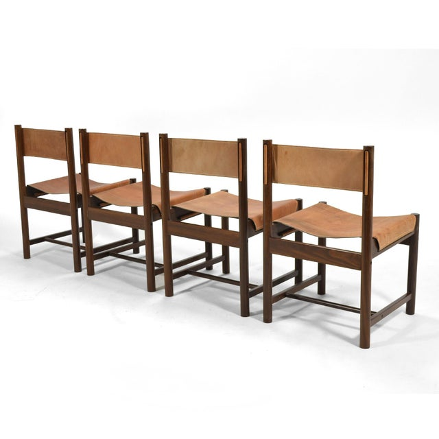 Wood Michel Arnoult Table & Four Chairs For Sale - Image 7 of 11