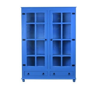 Sienna Blue Curio China Cabinet