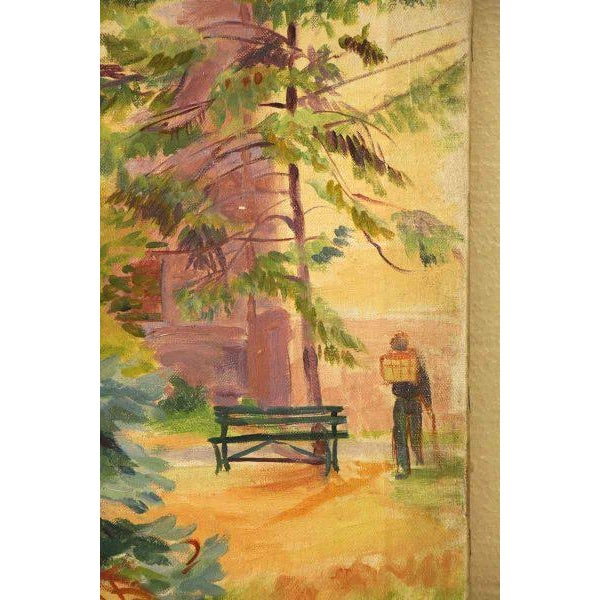Cheerful Fir Tree Painting For Sale - Image 4 of 7