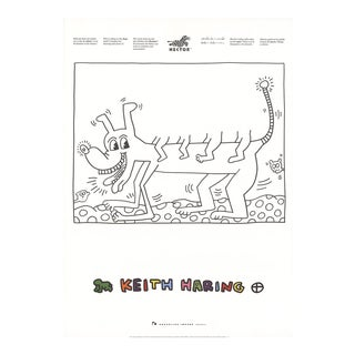 Keith Haring-Untitled (Dog)-1991 Poster For Sale