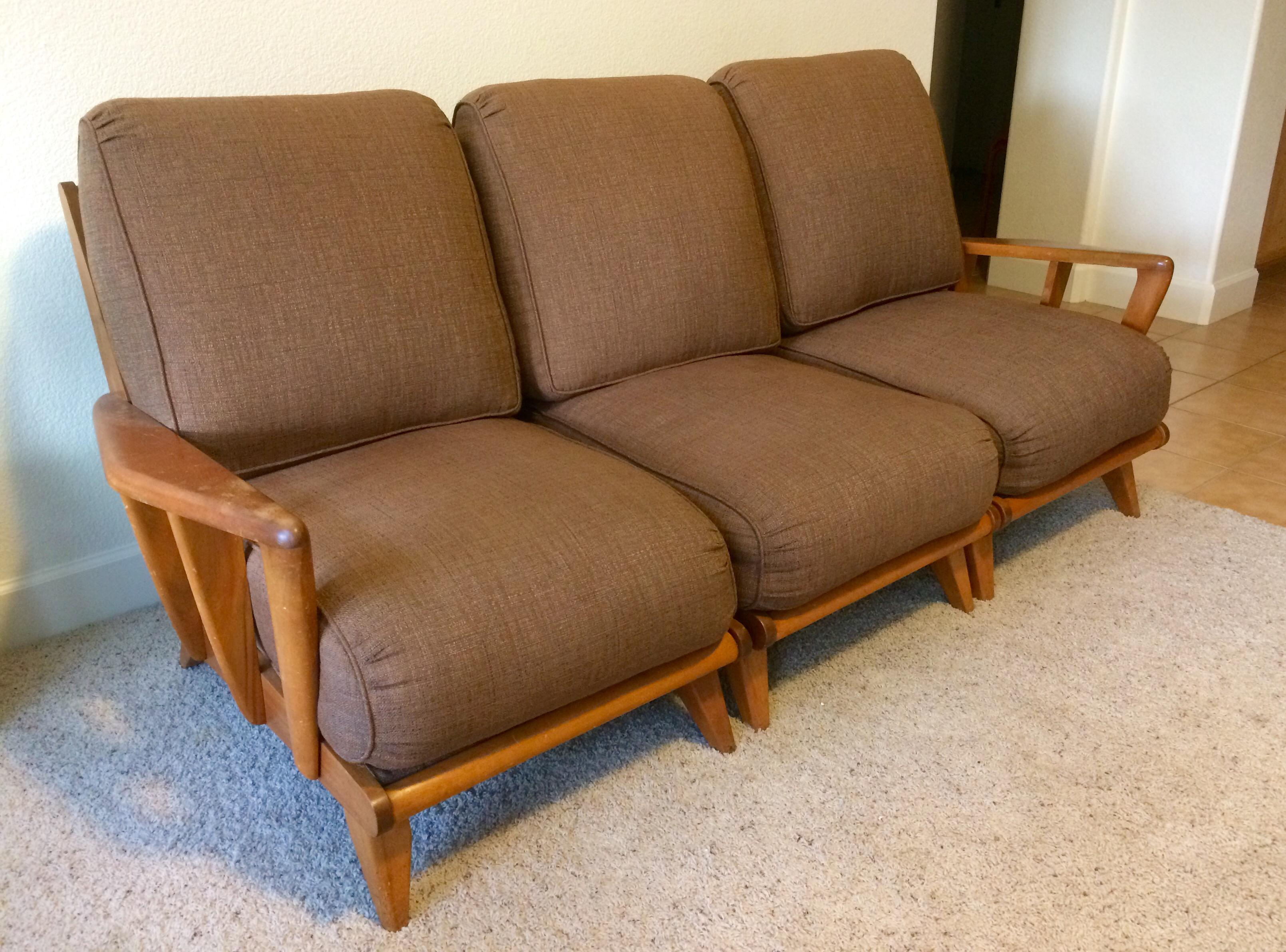 Vintage Heywood Wakefield Mid Century Sectional Sofa Chairish