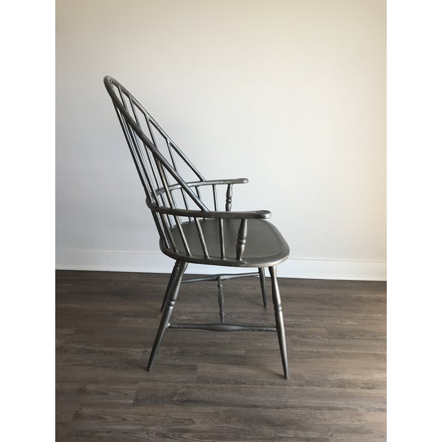 2000 - 2009 Modern Windsor Metal Armchair For Sale - Image 5 of 6