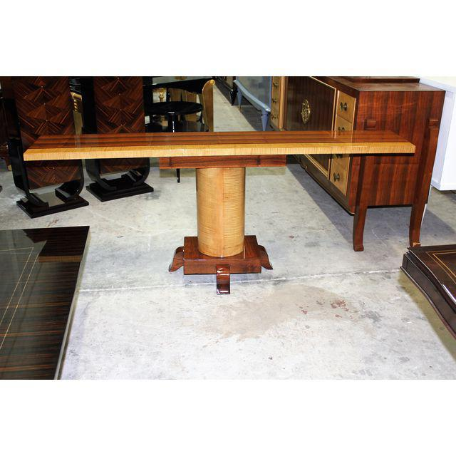 1940s French Art Deco Palisander / Sycamore Long Console Tables - a Pair For Sale - Image 10 of 10