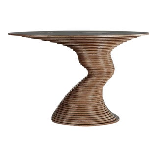 Organic Modern Marcello Pozzi Stack 50 Dining Table For Sale