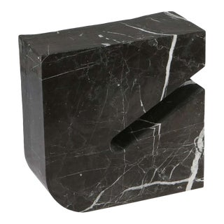 Found II Black Marble Side Table No.3 by a Space For Sale