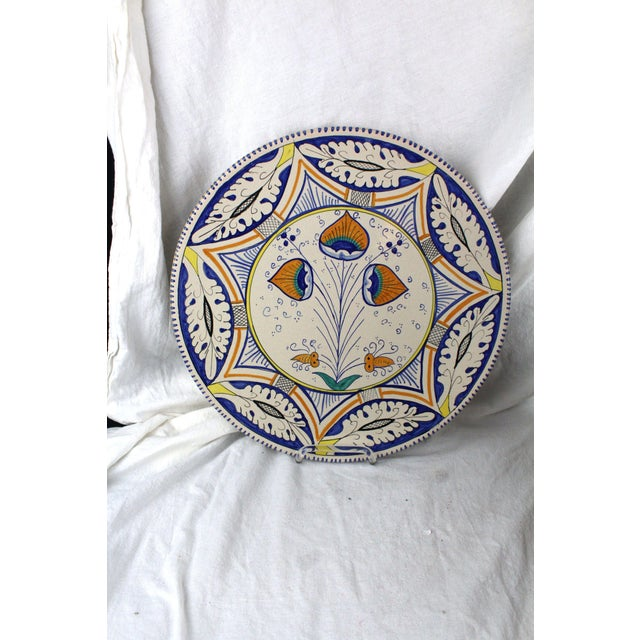 Mid 20th Century Mediterranean Pottery Charger For Sale - Image 5 of 5